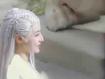 Địch Lệ Nhiệt Ba gây sốc mạng xã hội với tóc bạch kim trong 'An lạc truyện'