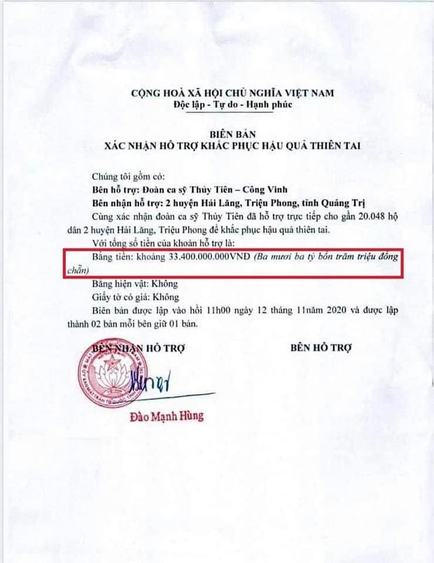 Dân tình ngồi soi lỗi trong giấy tờ xác nhận làm từ thiện của Thủy Tiên, các phép tính như có 'phép thần'?