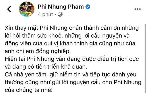 Tình hình hiện tại của Phi Nhung sau gần 1 tháng điều trị Covid-19 ở bệnh viện Chợ Rẫy