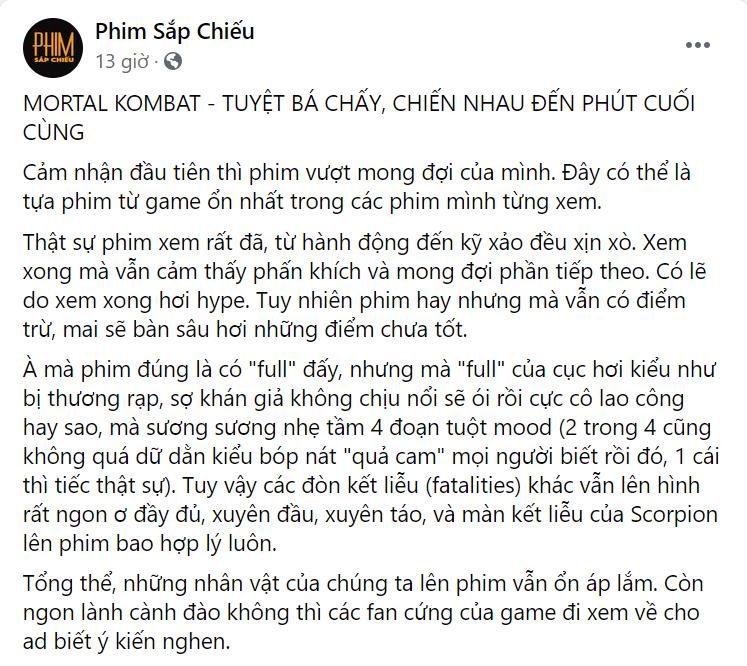 Netizen Việt rầm rộ review sớm 'Mortal Kombat': Kỹ xảo hoành tráng không thua gì game, dàn nhân vật chiến đấu 'căng cực' đã con mắt