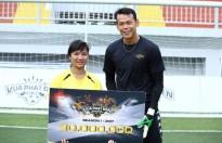 """""""Chân sút"""" Minh Thư chai lì ước mơ trở thành cầu thủ của đội tuyển bóng đá Việt Nam"""