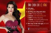 Cách thức bình chọn giúp Lệ Hằng vào top 12 Miss Universe 2016