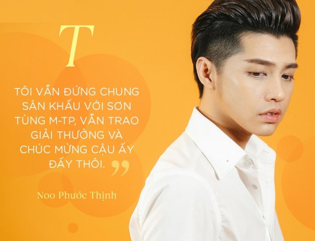 noo phuoc thinh toi van dung chung san khau voi son tung van trao giai thuong va chuc mung cau ay day thoi