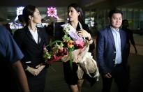 Á hậu Lệ Hằng vừa đặt chân đến Philippines đã được CNN phỏng vấn