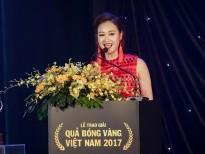 Hà Thúy Anh vinh dự đọc đề cử trao giải 'Quả bóng Vàng Việt Nam 2017'