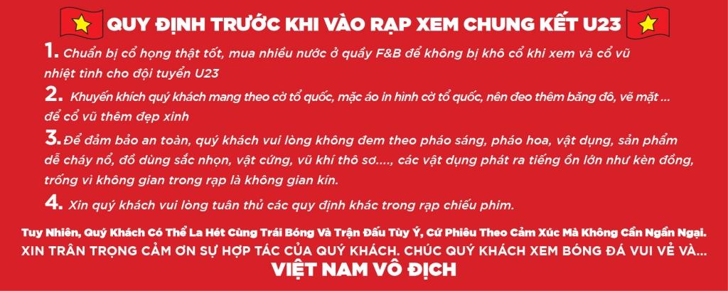 lotte cinema chieu mien phi chung ket u23 tren man hinh 1000 inch va tang ve 2d cho khan gia