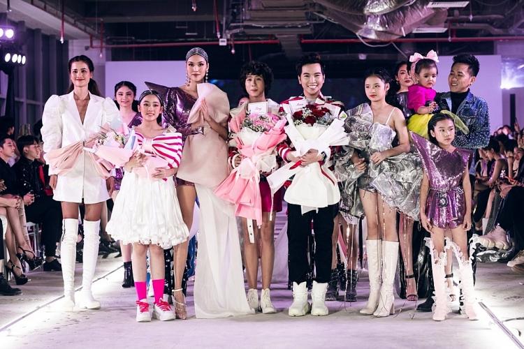 lan khue tai xuat san dien trong show cua ntk ivan tran