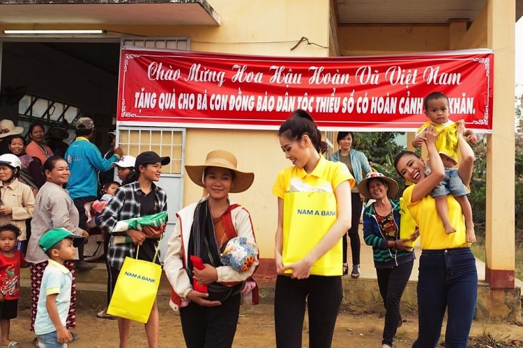 top 3 hoa hau hoan vu viet nam 2019 tro lai bao loc da lat tham gia hoat dong thien nguyen
