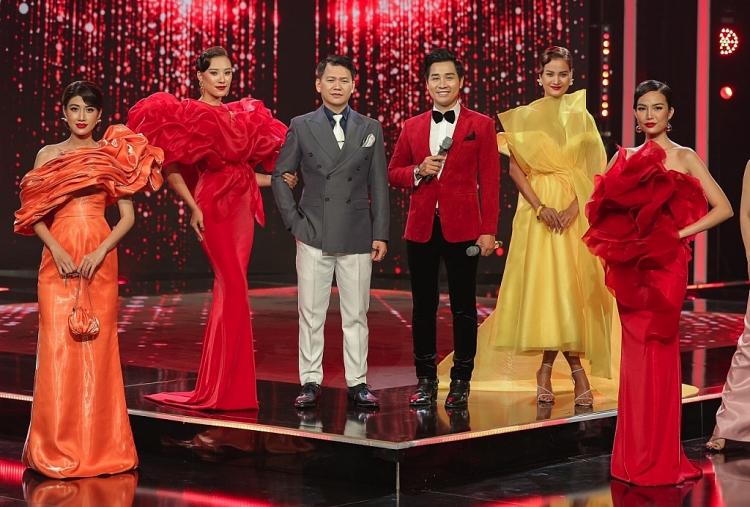 Á hậu Kim Duyên trình diễn một chiếc váy lộng lẫy của nhà thiết kế Minh Hà