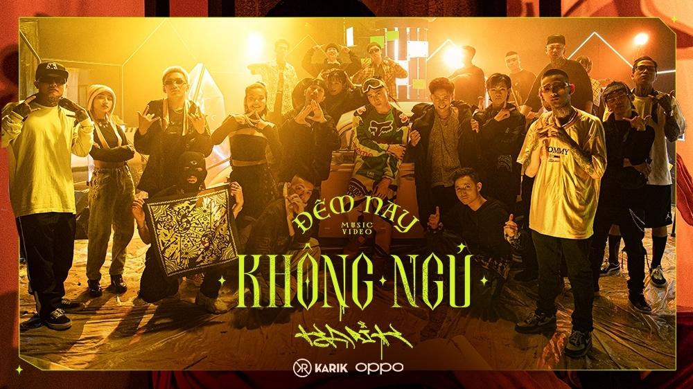Karik tung teaser MV 'Đêm nay không ngủ' với sự xuất hiện của dàn học trò 'Rap Việt'