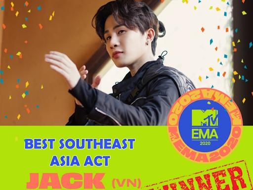 Jack - Nghệ sĩ Việt đầu tiên giành cúp danh giá của giải thưởng Asian Television Awards