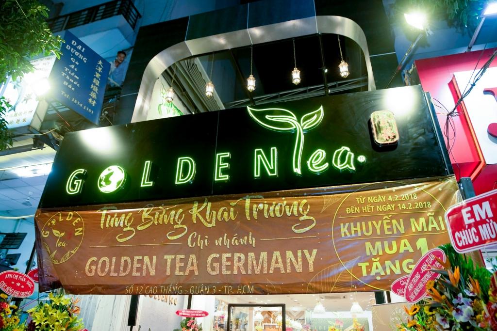 jimmy nghiem pham hop tac voi doanh nhan ho dac hai truong khai truong thuong hieu golden tea viet nam
