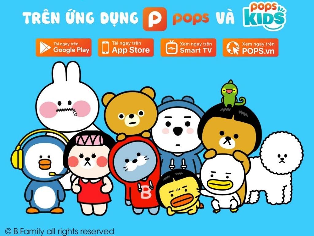 'B-Family': Gia đình gấu vịt siêu vui nhộn đã cập bến ứng dụng POPS