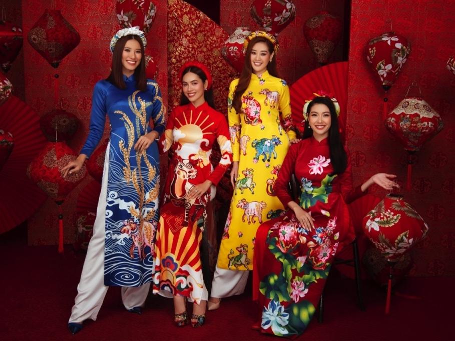 Người đẹp 'Hoa hậu hoàn vũ Việt Nam' rạng ngời trong bộ ảnh Tết Tân Sửu 2021