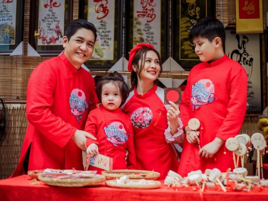 Thanh Thúy – Đức Thịnh mừng sinh nhật 2 tuổi cho Cu Tết