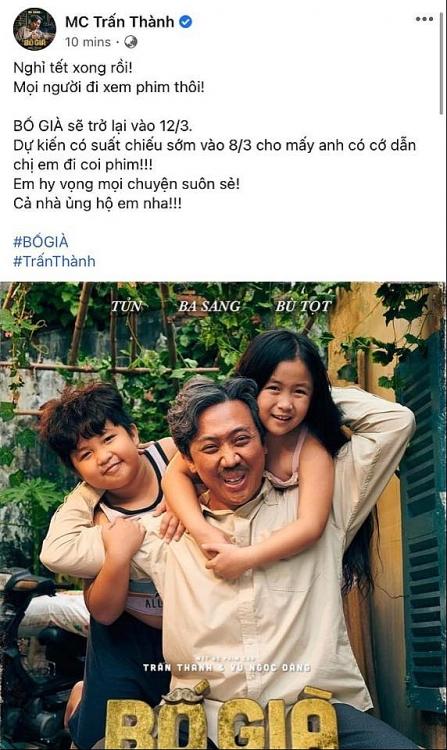 'Bố già' bản điện ảnh sẽ công chiếu cùng ngày với 'Gái già lắm chiêu V'