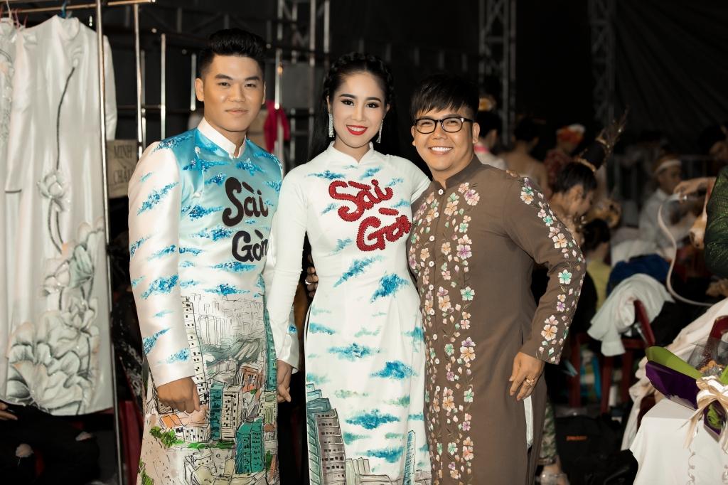 vo chong le phuong trung kien lam vo det trong le hoi ao dai 2018