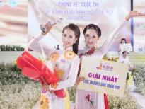 miss ao dai mai phuong dep rang ro chuc mung tan quan quan duyen dang ao dai 2019