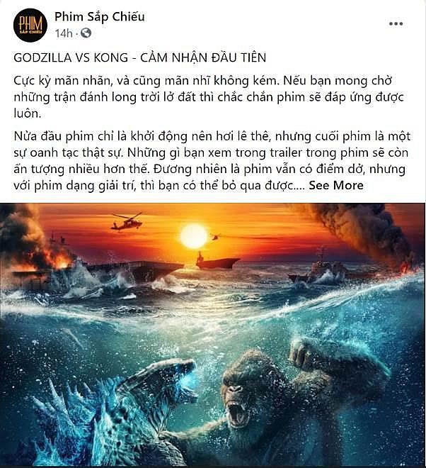 'Godzilla đại chiến Kong' bỏ túi 11 tỷ đồng, lập kỷ lục phim có doanh thu suất chiếu sớm vượt cả 'Bố già'