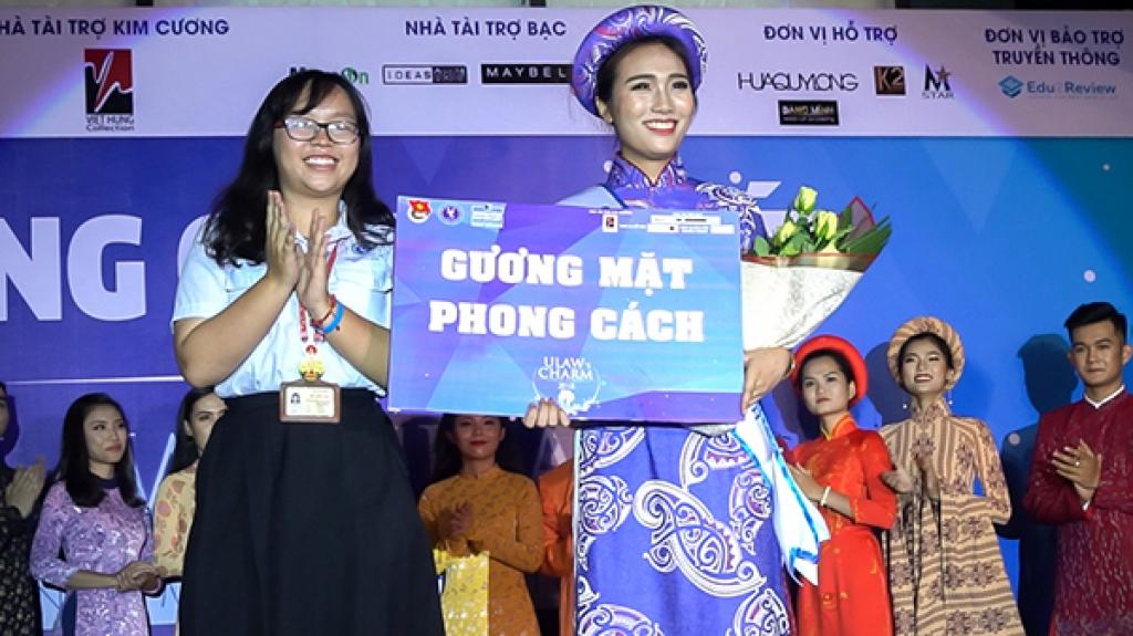ntk viet hung dong hanh cung cuoc thi guong mat sinh vien luat ulaws charm 2018