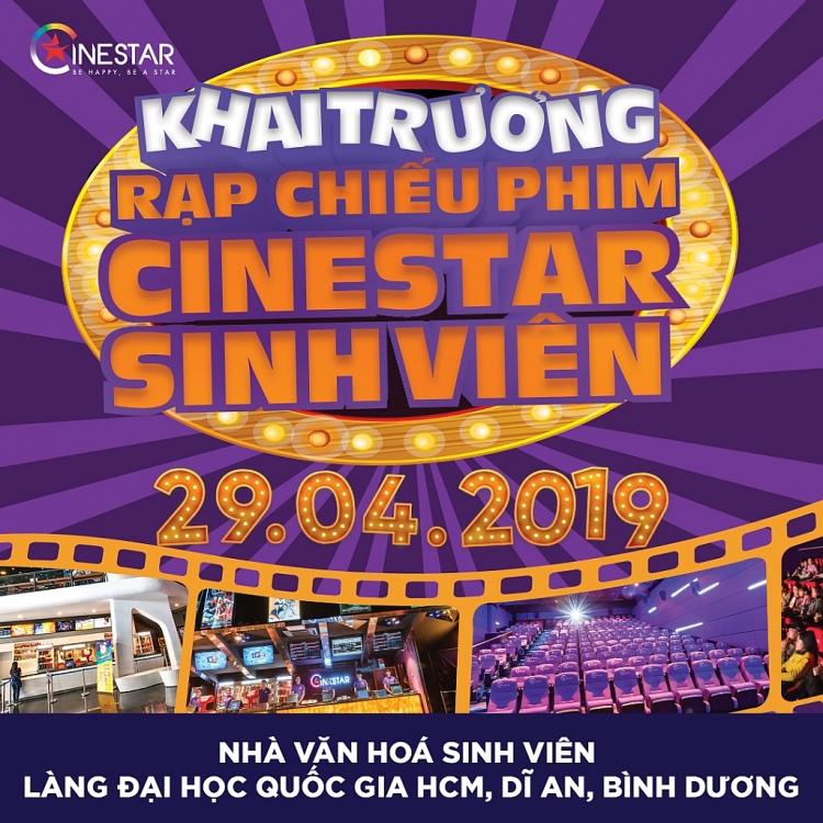 cinestar chinh thuc khai truong cum rap chieu phim tai khu do thi dai hoc quoc gia tphcm