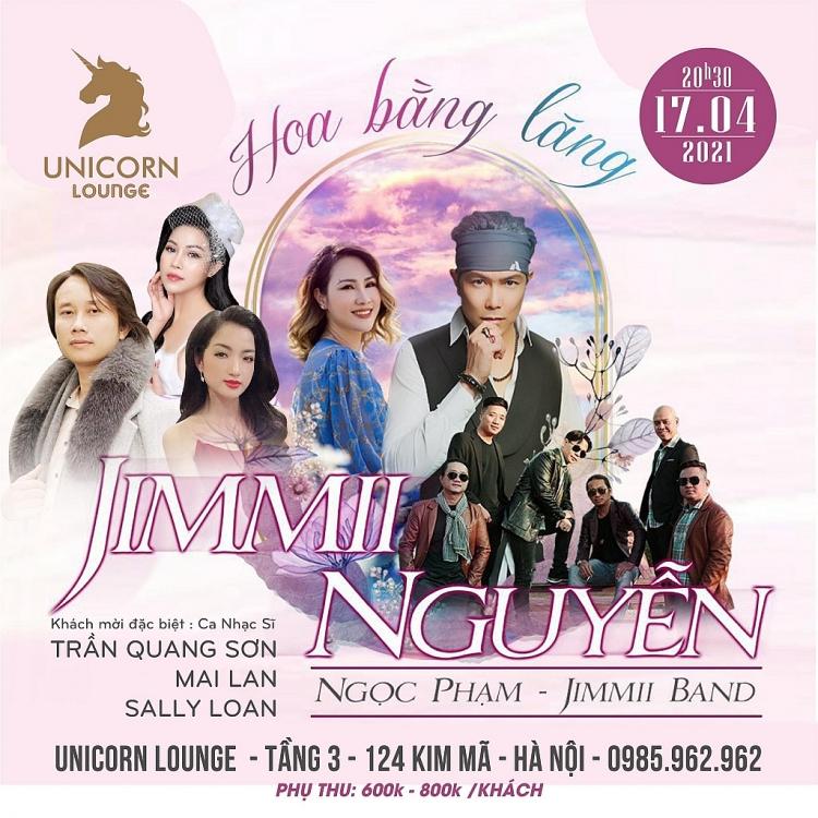 Ca nhạc sĩ Trần Quang Sơn: Khách mời đặc biệt tại đêm nhạc của Jimmi Nguyễn