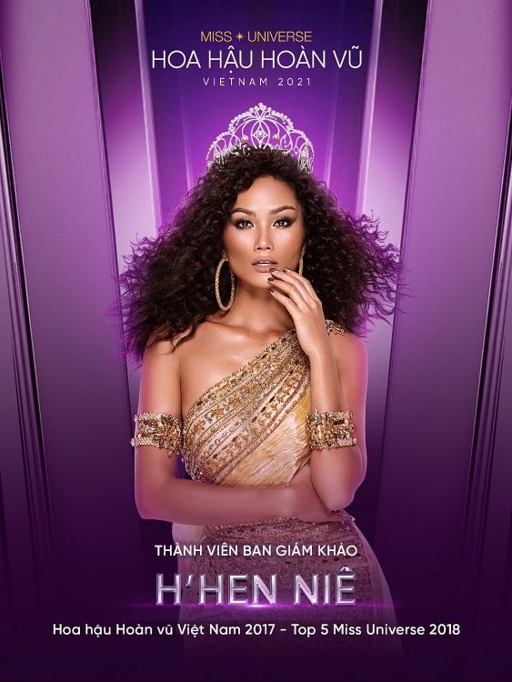 Hoa hậu H'Hen Niê là 1 trong 3 giám khảo đầu tiên của 'Hoa hậu hoàn vũ Việt Nam 2021'