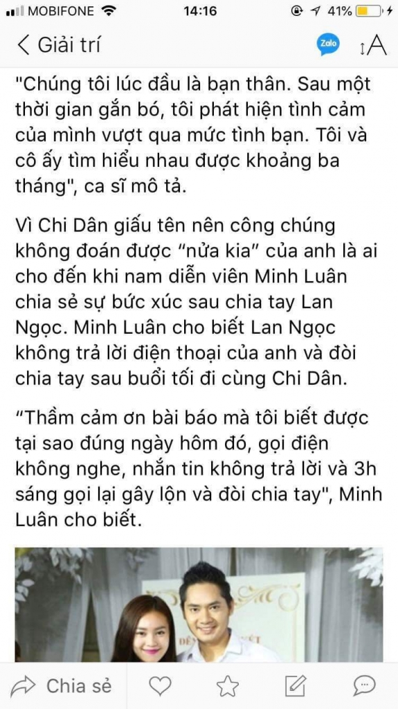 minh luan hien tai toi khong muon lien quan den lan ngoc hay nguoi nao khac