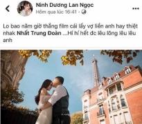 Lan Ngọc và hàng loạt sao Việt khoe ảnh thiệp cưới của đạo diễn Nhất Trung