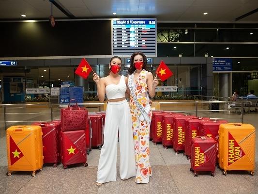 Hoa hậu Khánh Vân diện trang phục đặc biệt, mang theo 15 vali hành lý lên đường tham gia 'Miss Universe'