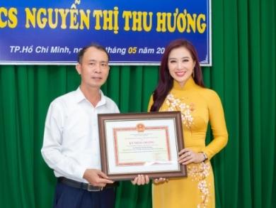 Á hậu quý bà thế giới Nguyễn Thu Hương bảo vệ thành công Luận án Tiến sĩ
