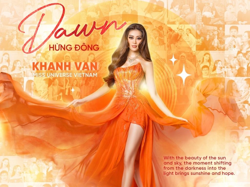 Ngắm cận cảnh trang phục dạ hội của Hoa hậu Khánh Vân tại bán kết 'Miss Universe'