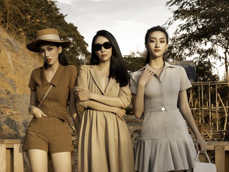 Hà Kiều Anh pose dáng đỉnh cao cùng 2 nàng hậu Lương Thùy Linh và Ngọc Thảo