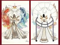 'Sơn Tinh - Thủy Tinh' tạm dẫn đầu top trang phục dân tộc được bình chọn nhiều nhất 'Miss Universe Vietnam'