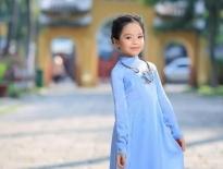 Mẫu nhí Thiên Nga đánh dấu tuổi lên 7với áo dài Việt Hùng