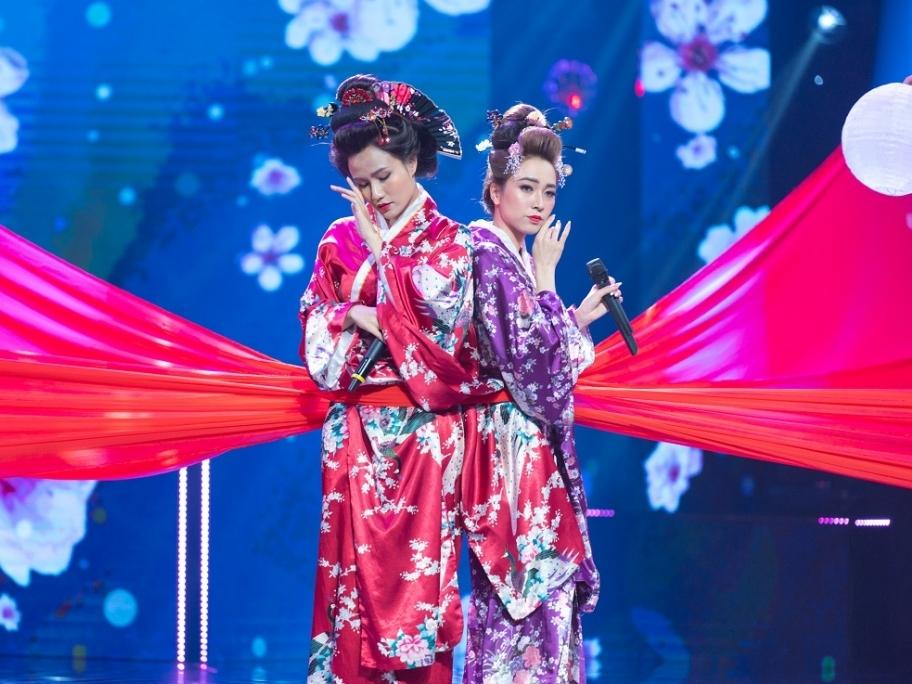 'Hãy nghe tôi hát': Hóa thân thành Geisha, Như Thùy và Tina Ngọc Nữ nhận 'cơn mưa điểm 10'
