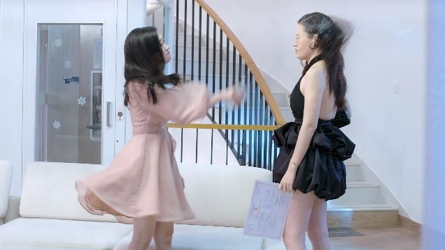 Bạn gái tin đồn của Anh Đức bị 'liên hoàn tát' trong web-drama 'Vợ hai'