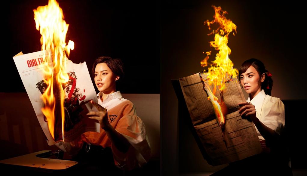Soi những khoảnh khắc giống nhau giữa Bùi Linh Chi và mỹ nhân Yuri trong 'Girl from nowhere 2'