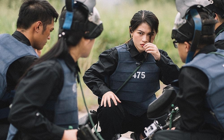 ngoc thanh tam bi soc sut can khi tham gia my nhan hanh dong