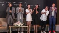 Thu Trang đẹp dịu dàng, dự showcase 'Tiệc trăng máu'cùng Thái Hòa - Kiều Minh Tuấn