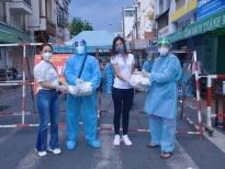 Ngọc Anh Anh, Thái Thị Hoa cùng làm từ thiện mùa dịch