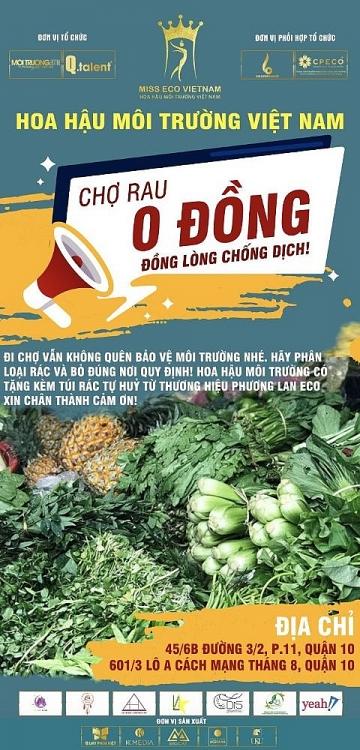 Ấm áp nghĩa tình từ Chợ rau 0 đồng của 'Hoa hậu môi trường Việt Nam' giữa tâm dịch