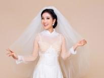 'Nữ hoàng phim xưa' Quỳnh Lam rạng rỡ với áo dài cưới ren nổi 3D