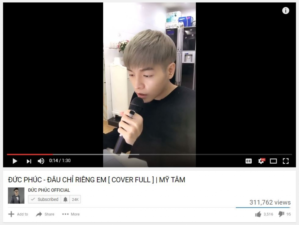 my tam cover hit dau chi rieng em theo phong cach cai luong