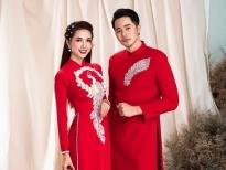 Hoa hậu Phan Thị Mơ kết đôi cùng Dương Mạc Anh Quân trong thiết kế áo dài Minh Châu