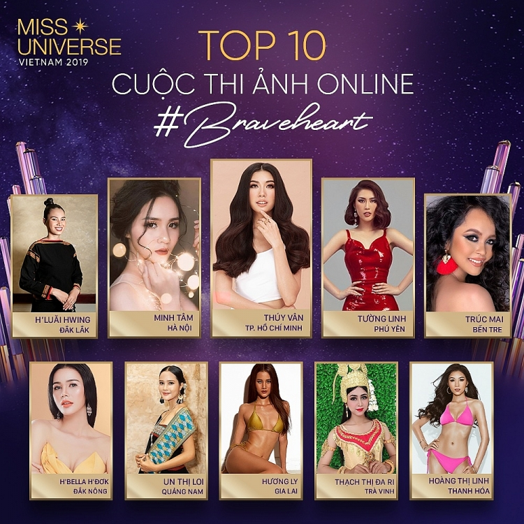 lo dien top 3 thi sinh duoc binh chon cao nhat miss universe online