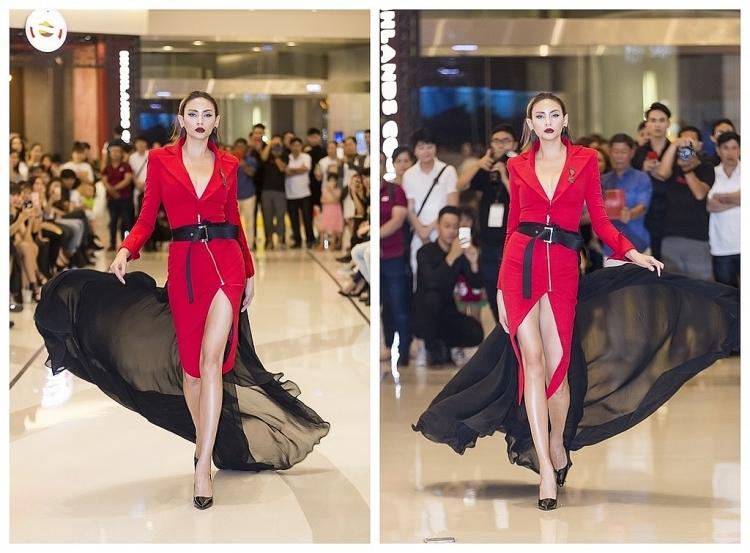 vo hoang yen truc tiep ngoi ghe nong buoi casting vietnam international fashion week fall winter 2019