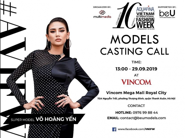 vo hoang yen truc tiep ngoi ghe nong buoi casting vietnam international fashion week fall winter 2019