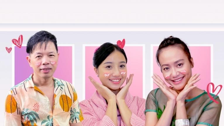 'Gõ cửa nhà táo': Hồng Ánh 'lật tẩy' thói quen ngộ nghĩnh của Thái Hòa trên phim trường
