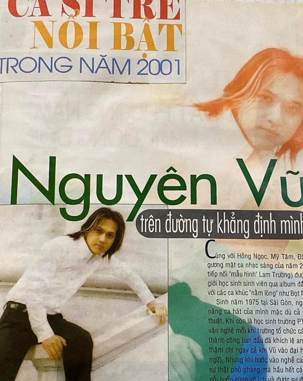 Ca sĩ Nguyên Vũ đăng hình ảnh kỷ niệm cách đây 20 năm, trông 'họa mi' Mỹ Tâm lúc đó thật lạ